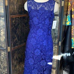Frank Lyman cobalt blue sleeveless cocktail dress